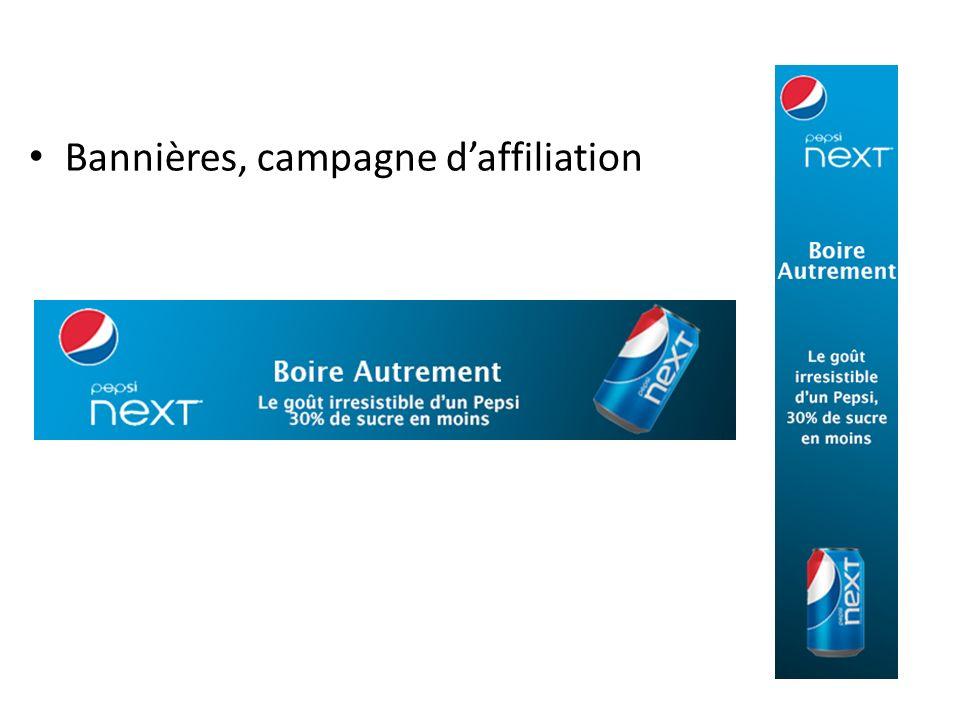 Bannières, campagne d'affiliation