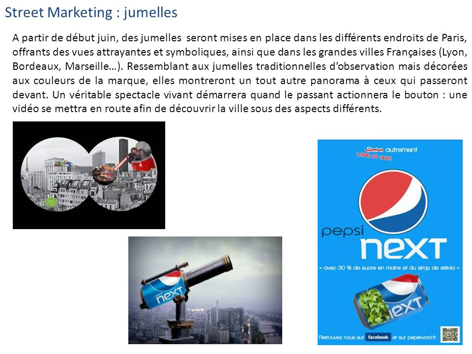 Street Marketing : jumelles