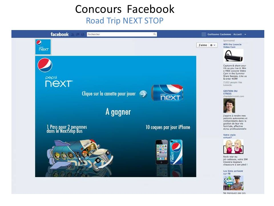 Concours Facebook Road Trip NEXT STOP