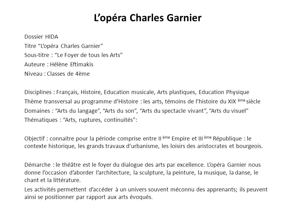 L'opéra Charles Garnier