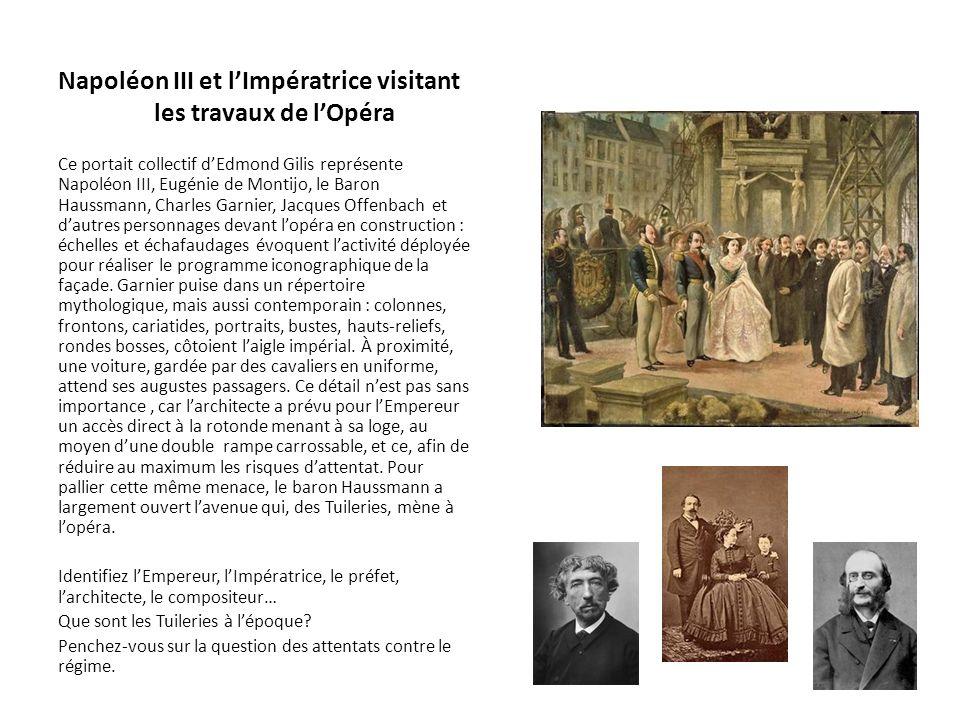 Napoléon III et l'Impératrice visitant les travaux de l'Opéra