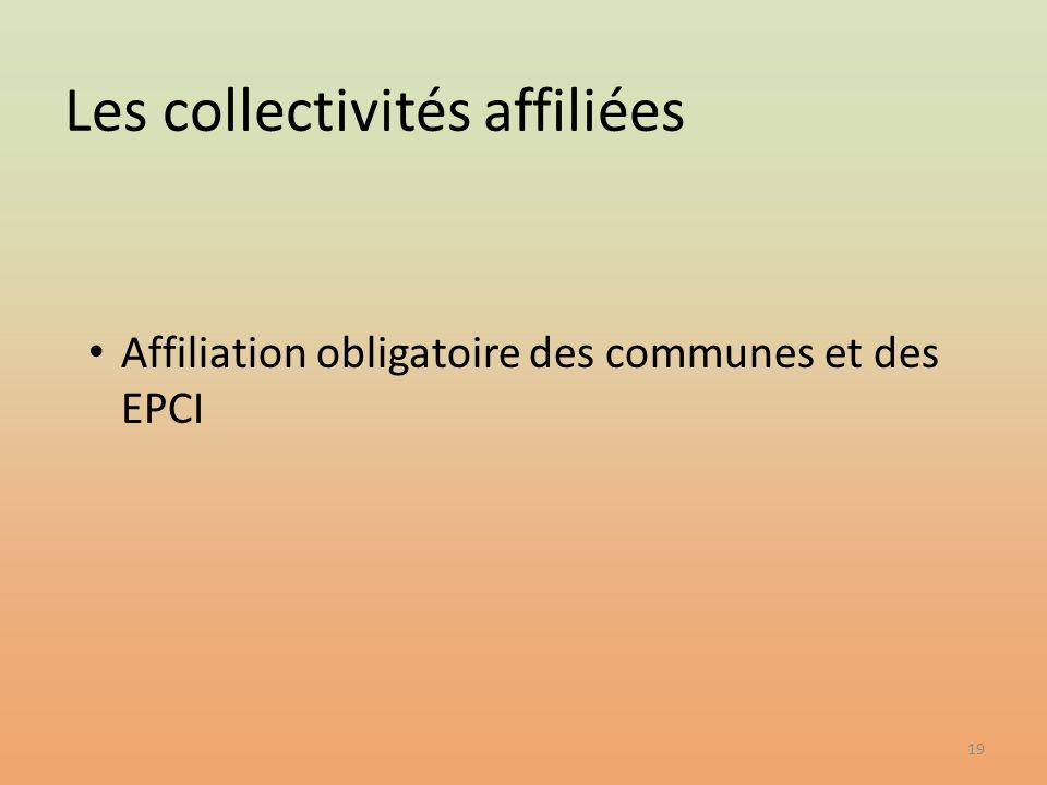 Les collectivités affiliées