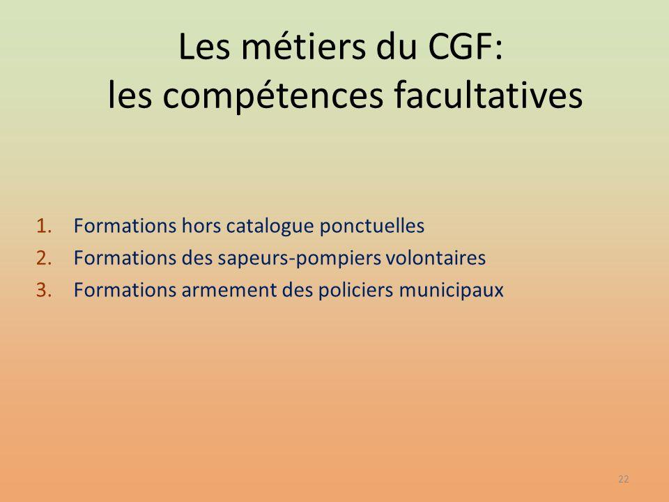 Les métiers du CGF: les compétences facultatives