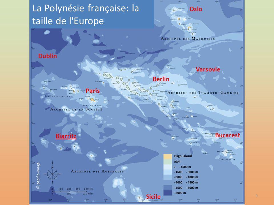 La Polynésie française: la taille de l Europe