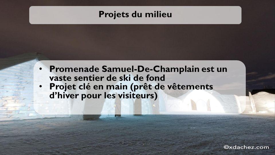 Projets du milieu Promenade Samuel-De-Champlain est un vaste sentier de ski de fond.