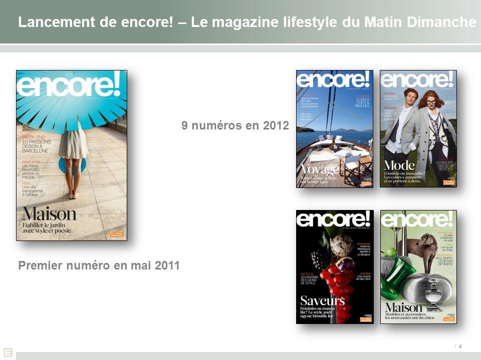 Lancement de encore! – Le magazine lifestyle du Matin Dimanche