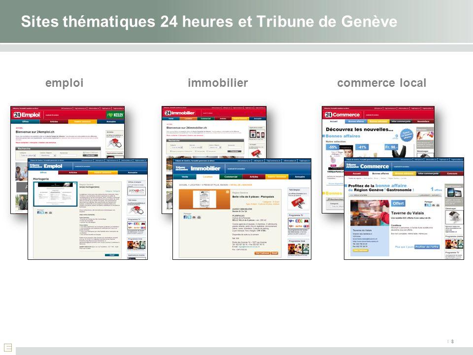 Sites thématiques 24 heures et Tribune de Genève