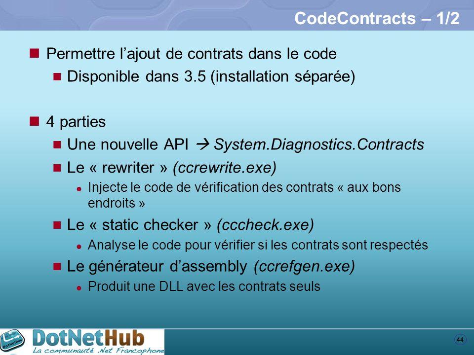 CodeContracts – 1/2 Permettre l'ajout de contrats dans le code