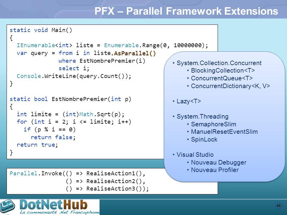 PFX – Parallel Framework Extensions