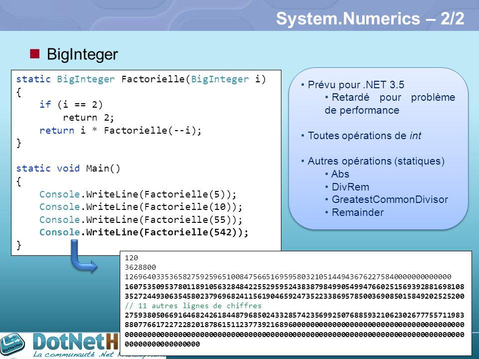 System.Numerics – 2/2 BigInteger