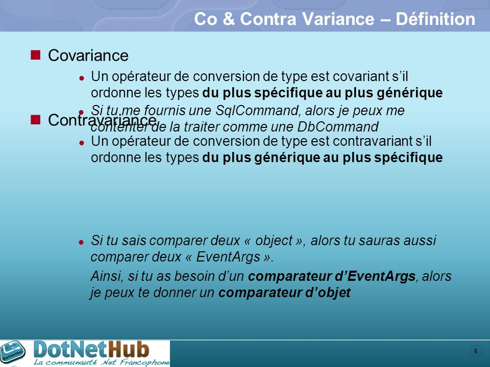 Co & Contra Variance – Définition
