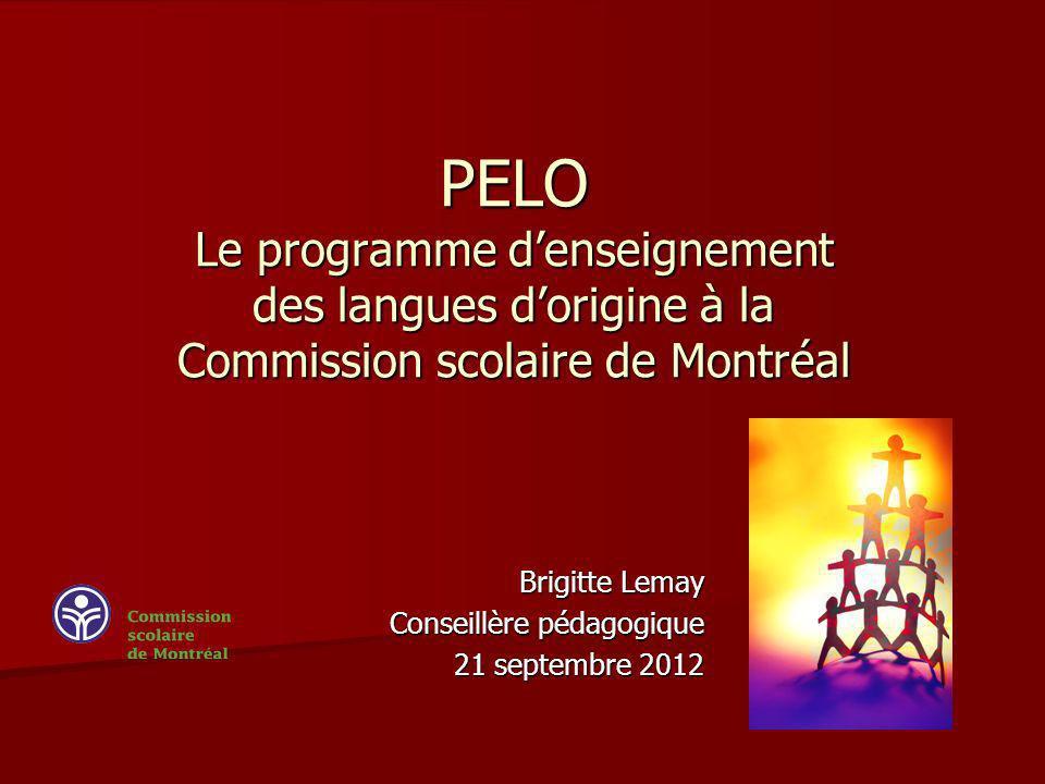 Brigitte Lemay Conseillère pédagogique 21 septembre 2012