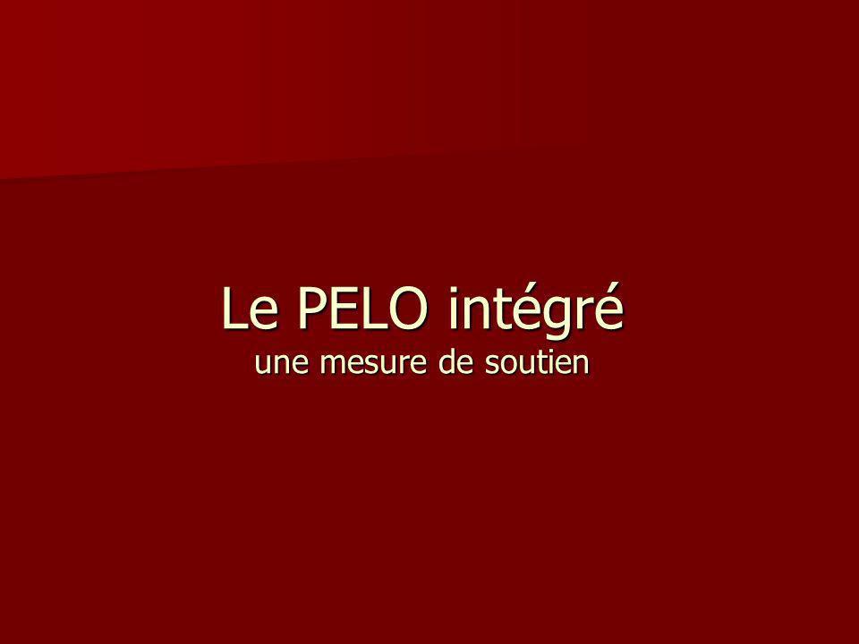 Le PELO intégré une mesure de soutien