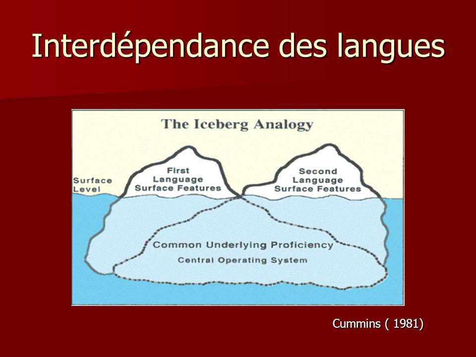 Interdépendance des langues