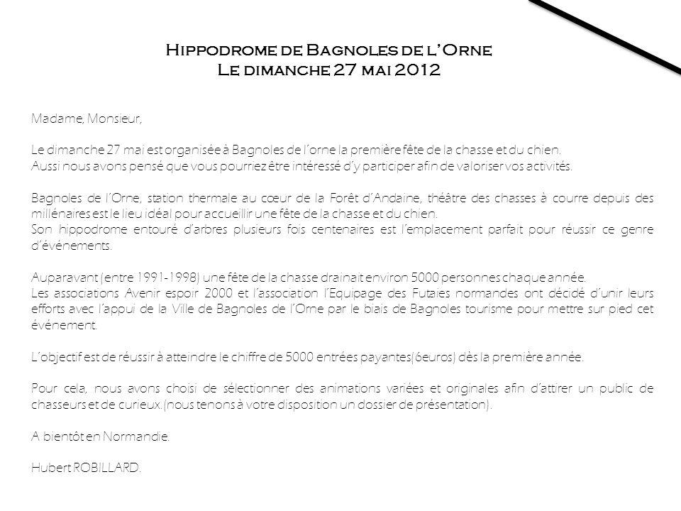 Hippodrome de Bagnoles de l'Orne Le dimanche 27 mai 2012