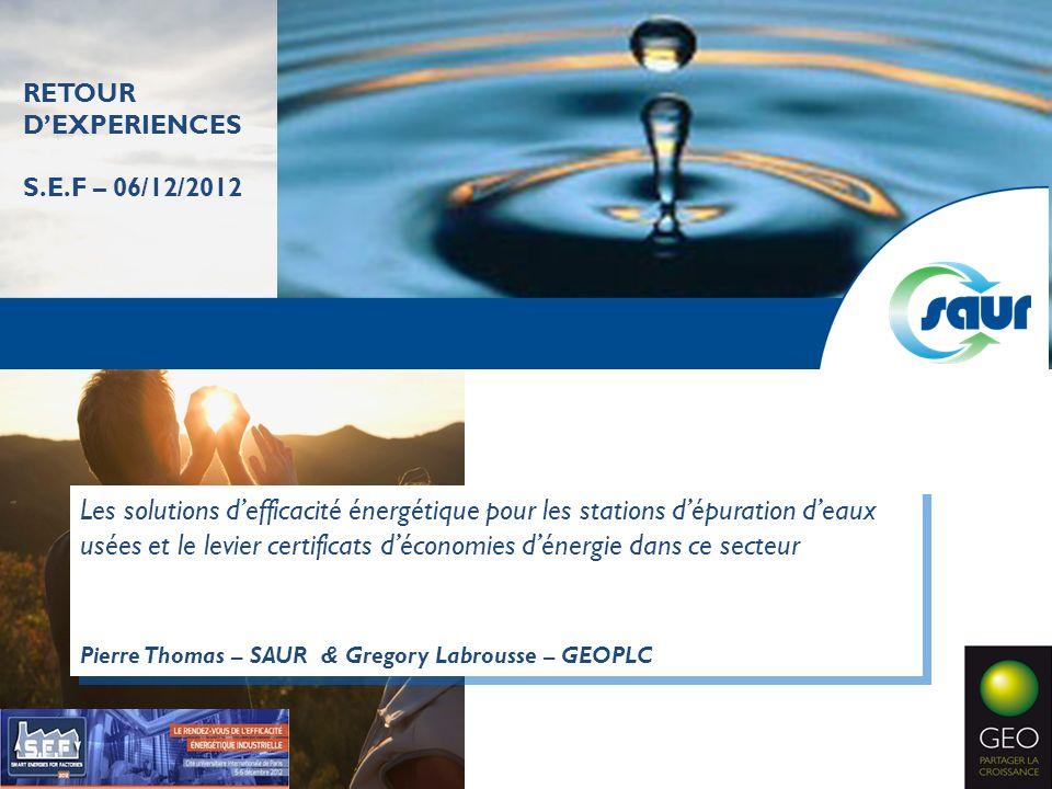 RETOUR D'EXPERIENCES S.E.F – 06/12/2012.