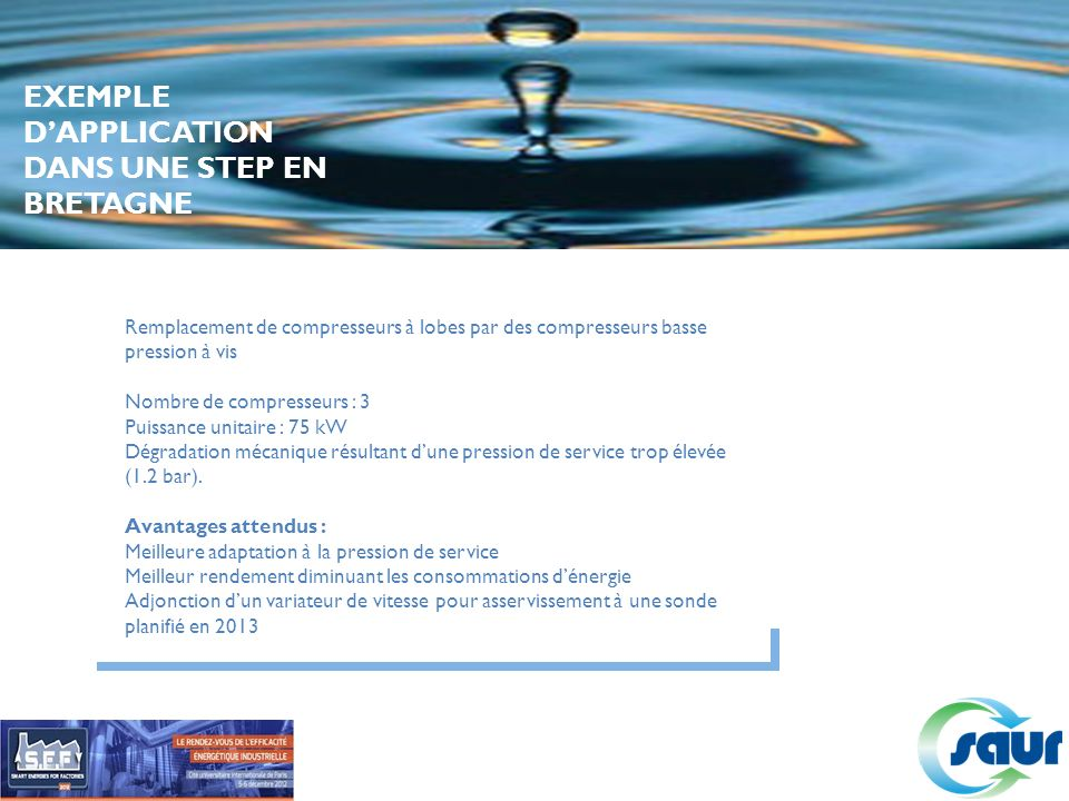 EXEMPLE D'APPLICATION DANS UNE STEP EN BRETAGNE