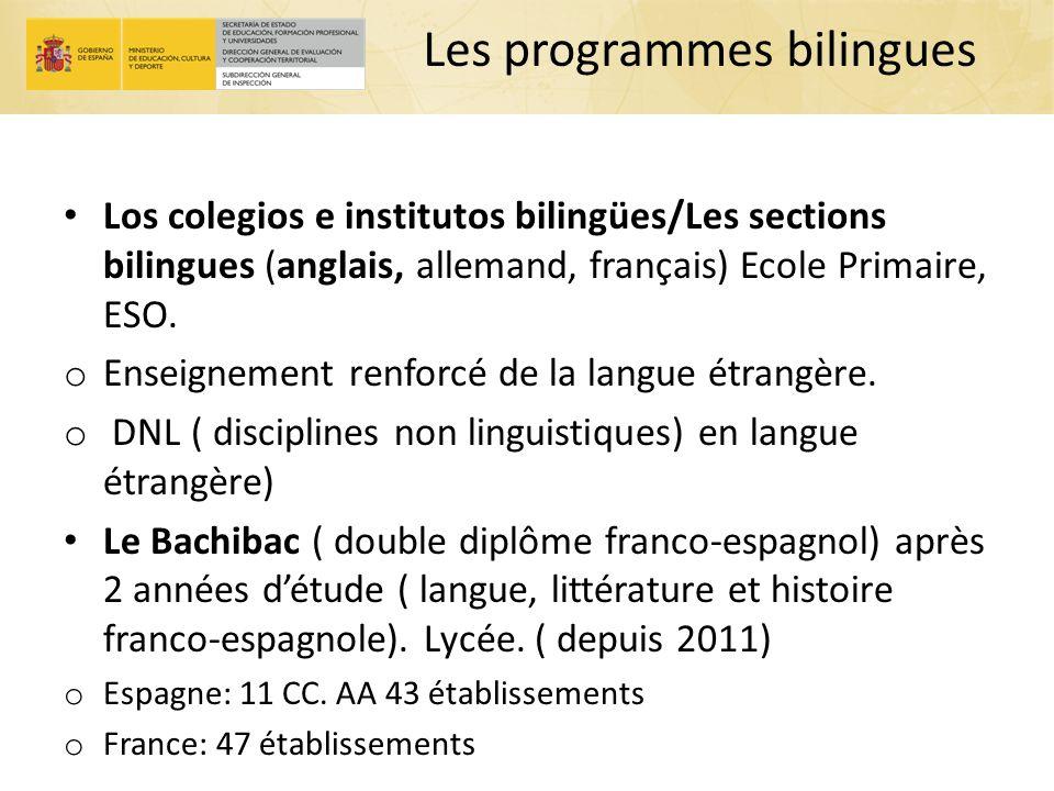 Les programmes bilingues