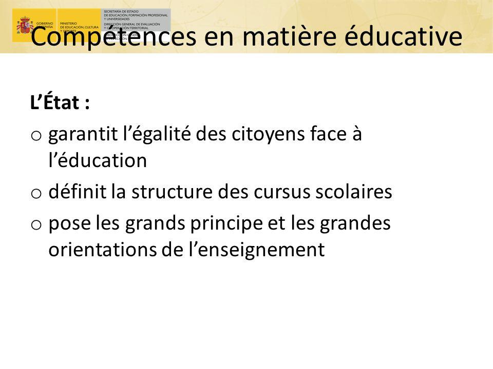 Compétences en matière éducative