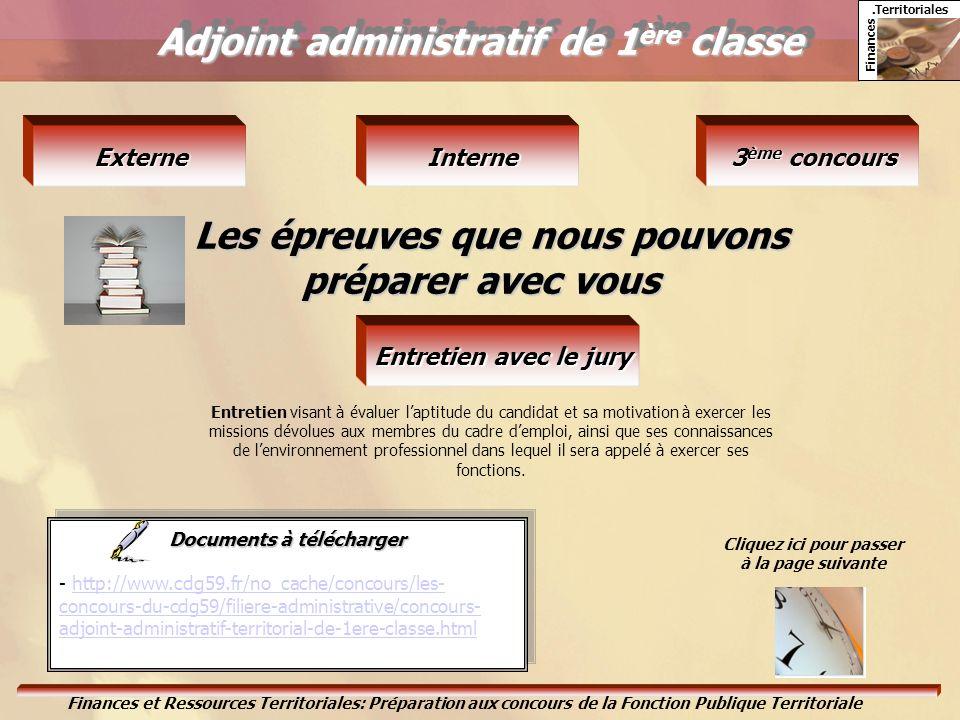 Adjoint administratif de 1ère classe