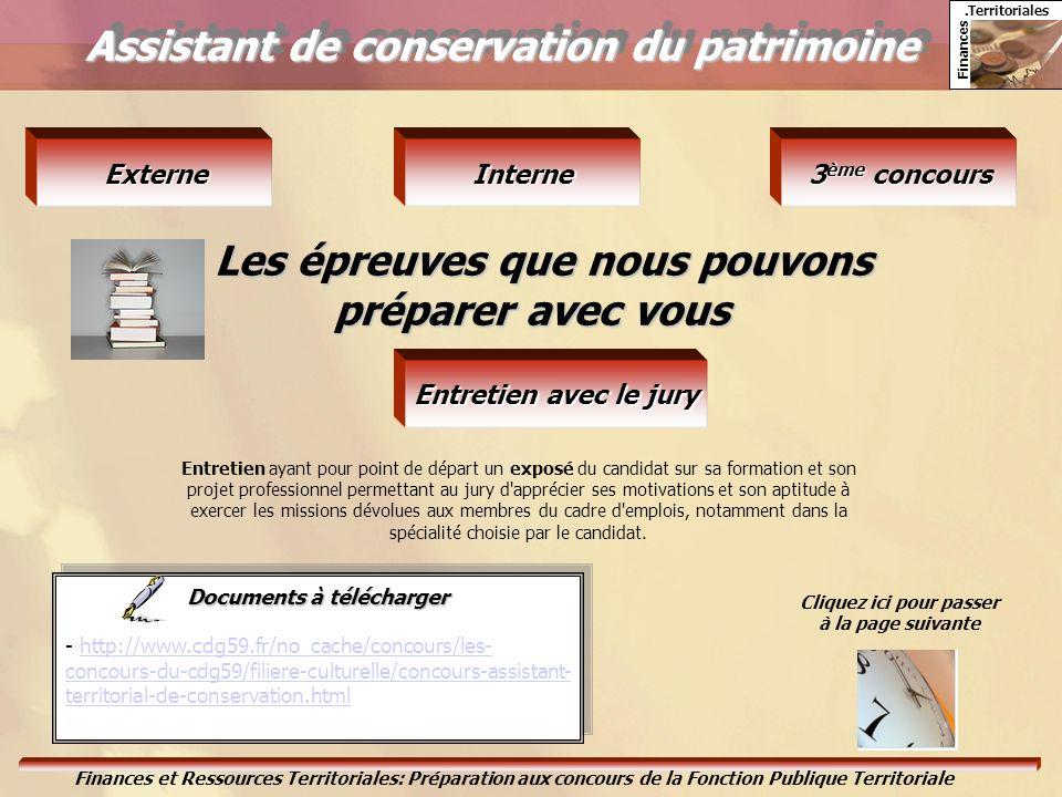 Assistant de conservation du patrimoine