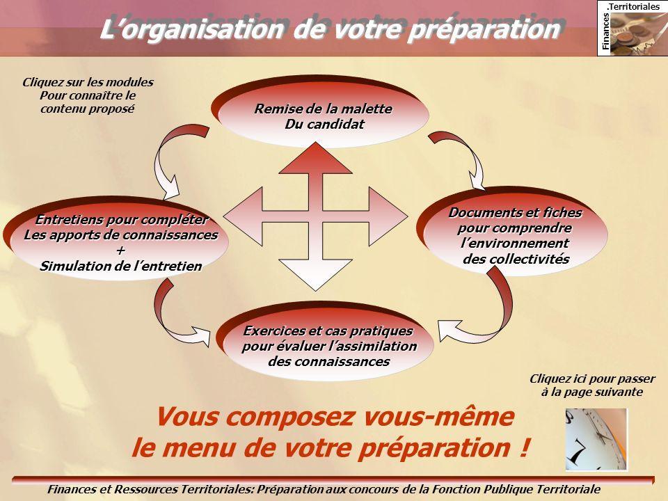 L'organisation de votre préparation
