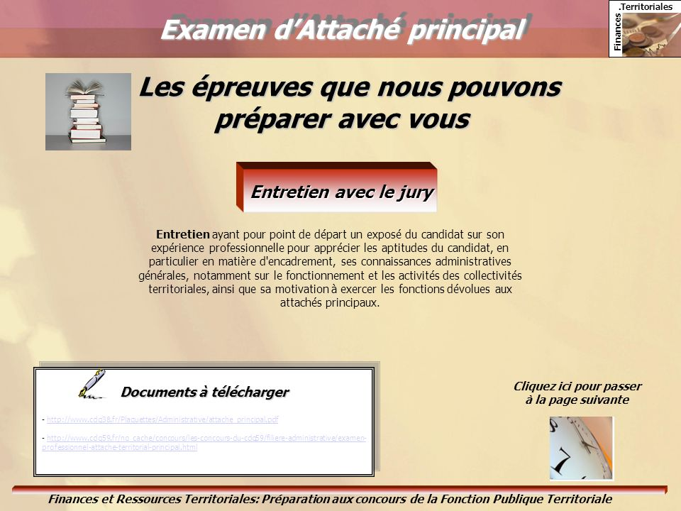 Examen d'Attaché principal