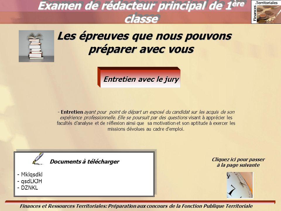 Examen de rédacteur principal de 1ère classe