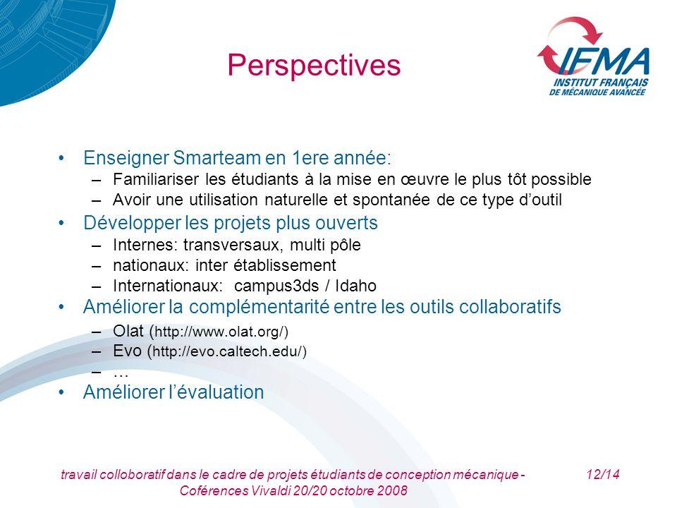 Perspectives Enseigner Smarteam en 1ere année: