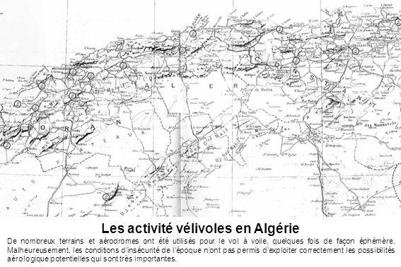 Les activité vélivoles en Algérie
