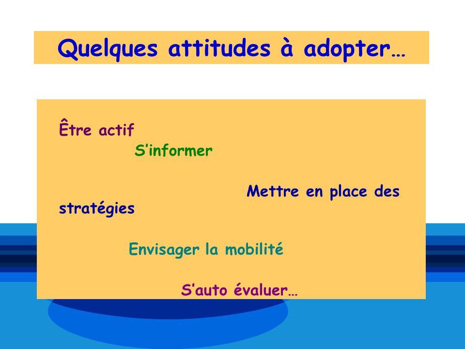 Quelques attitudes à adopter…