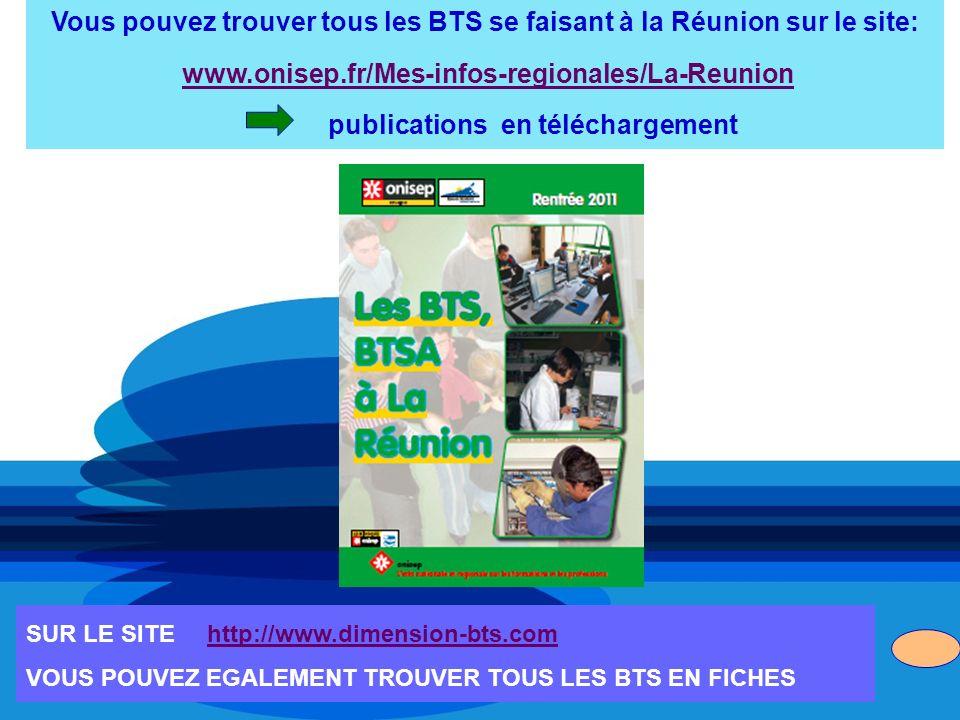 Vous pouvez trouver tous les BTS se faisant à la Réunion sur le site: