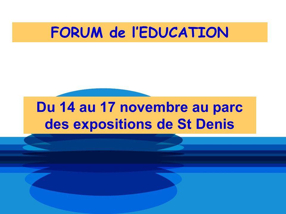 Du 14 au 17 novembre au parc des expositions de St Denis