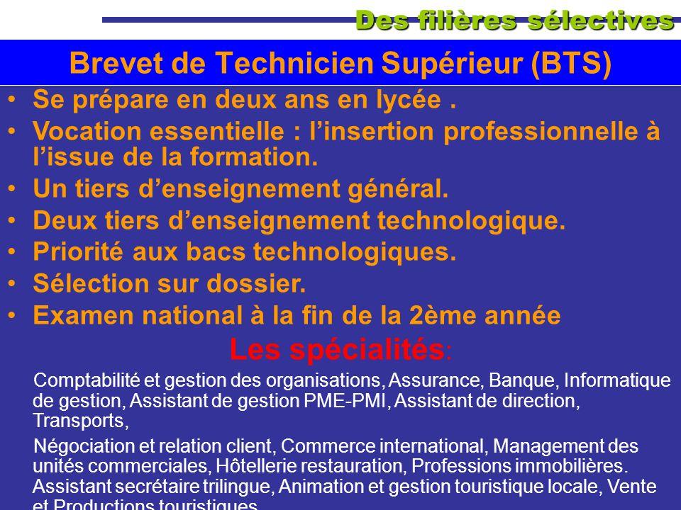 Brevet de Technicien Supérieur (BTS)
