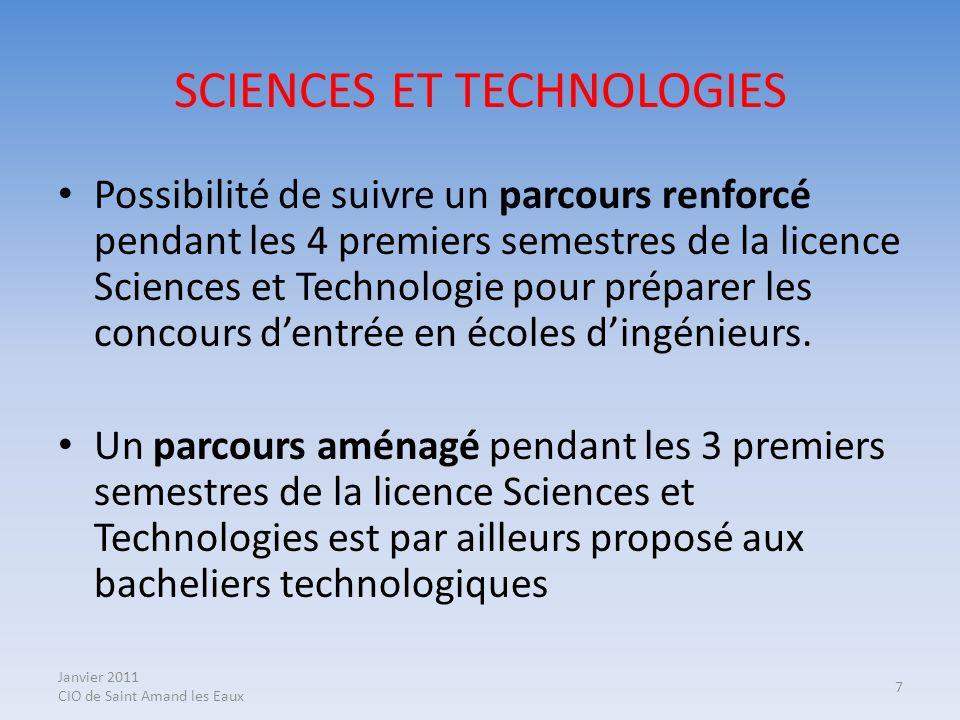 SCIENCES ET TECHNOLOGIES