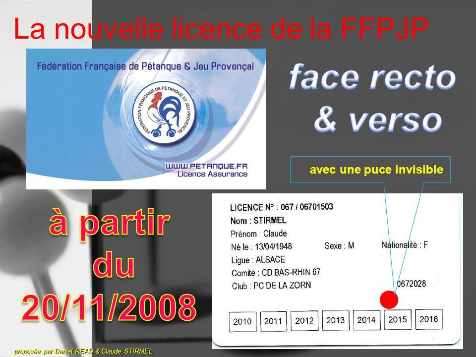 La nouvelle licence de la FFPJP