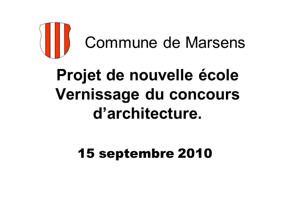 Projet de nouvelle école Vernissage du concours d'architecture.