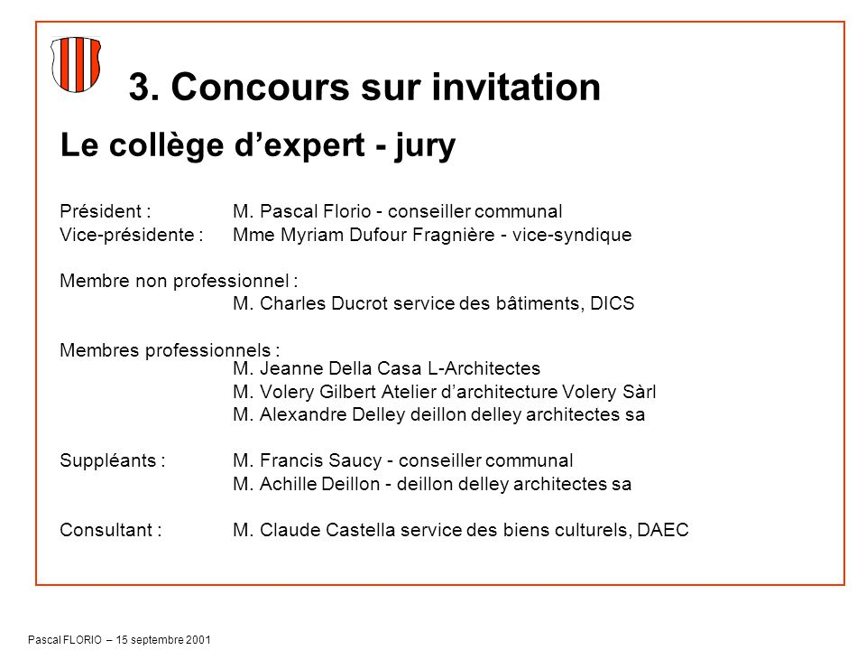 3. Concours sur invitation