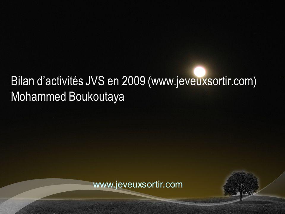 Bilan d'activités JVS en 2009 (www.jeveuxsortir.com)