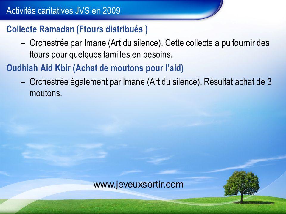 Activités caritatives JVS en 2009