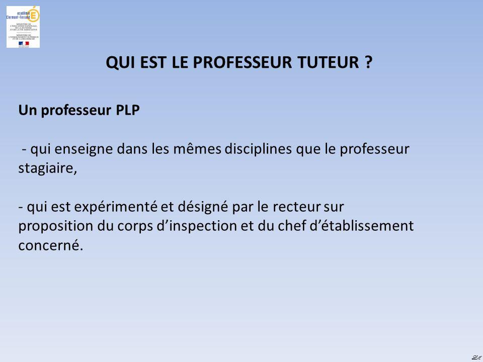 QUI EST LE PROFESSEUR TUTEUR