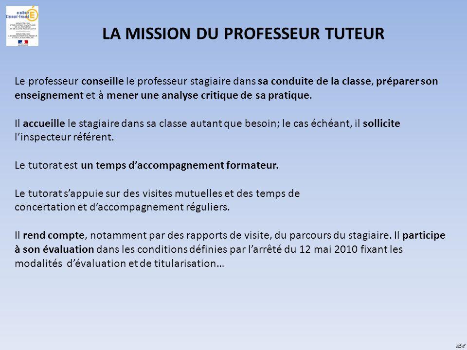 LA MISSION DU PROFESSEUR TUTEUR
