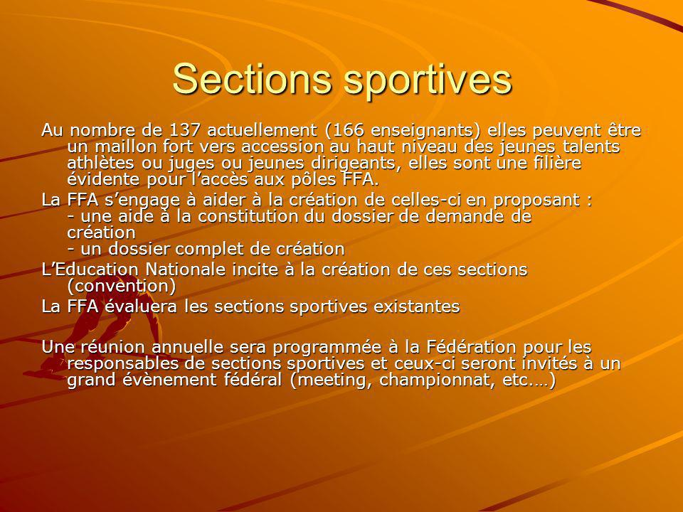 Sections sportives