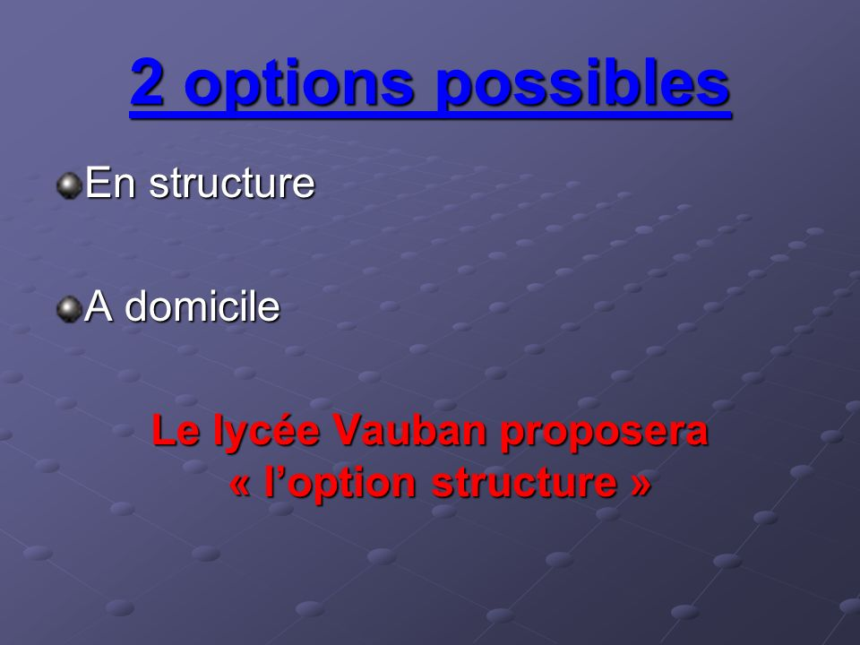 Le lycée Vauban proposera « l'option structure »