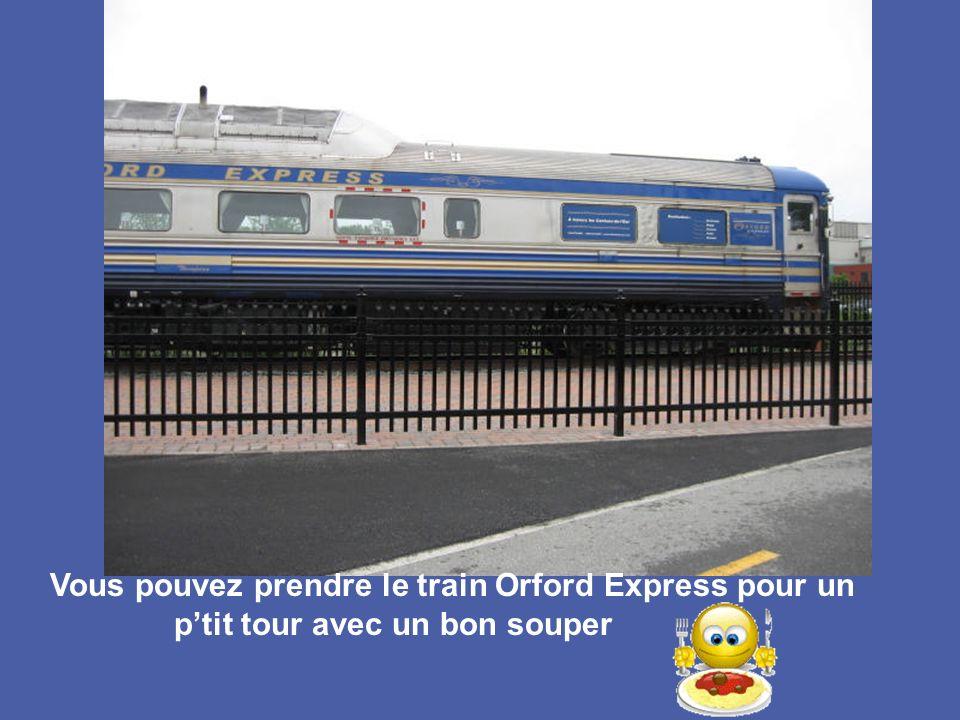 Vous pouvez prendre le train Orford Express pour un