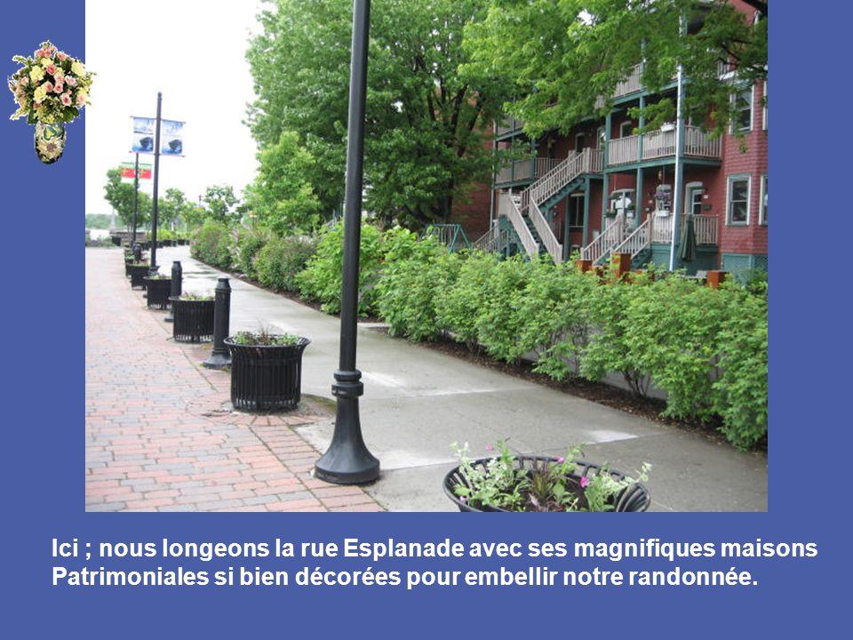 Ici ; nous longeons la rue Esplanade avec ses magnifiques maisons