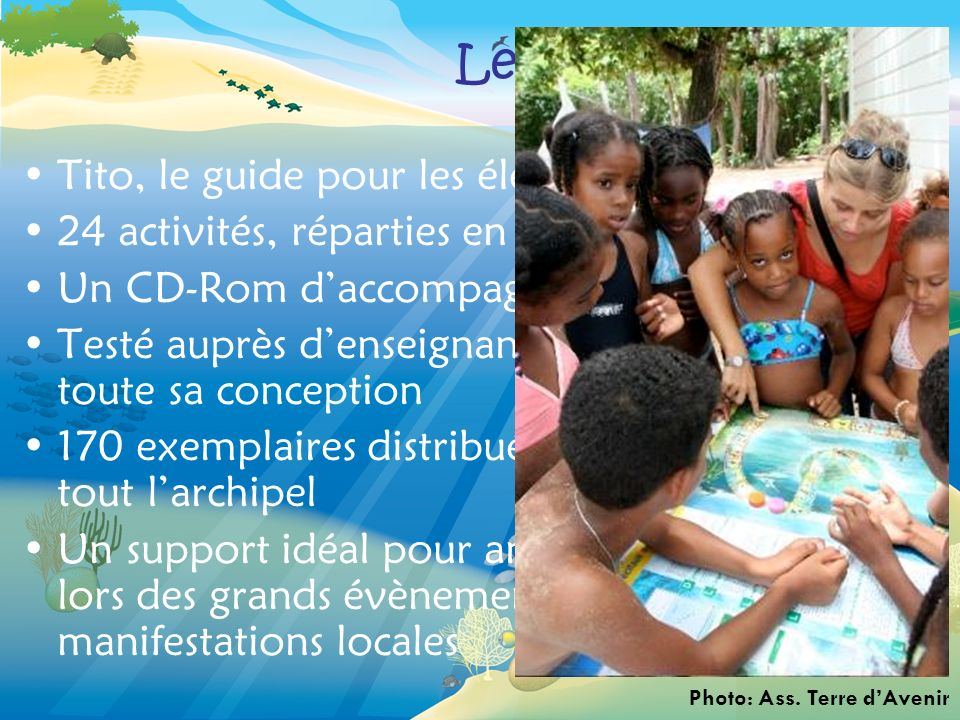 Le kit pédagogique Tito, le guide pour les élèves: