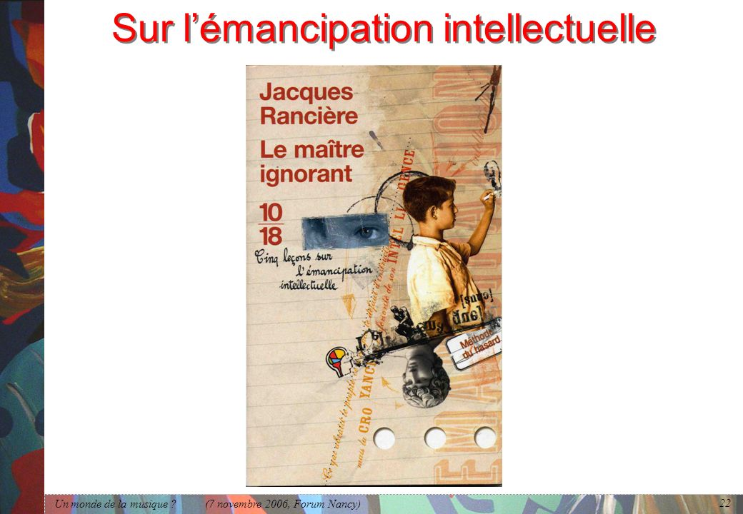 Sur l'émancipation intellectuelle