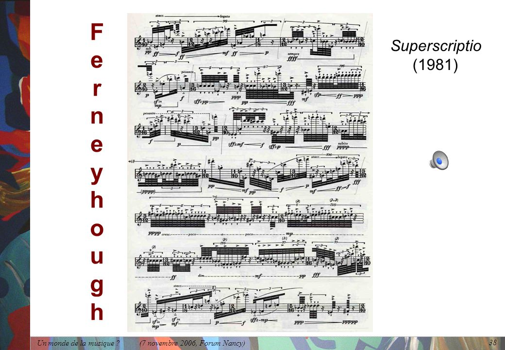 F e r n e y h o u g h Superscriptio (1981)