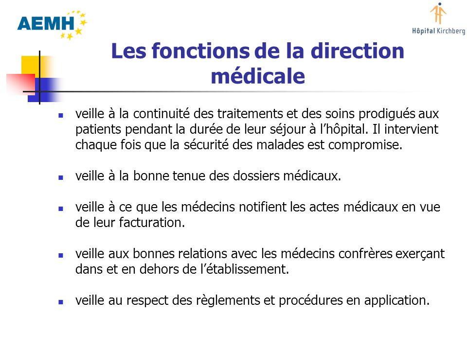 Les fonctions de la direction médicale